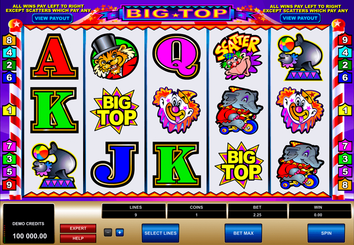 big top microgaming casino gokkasten