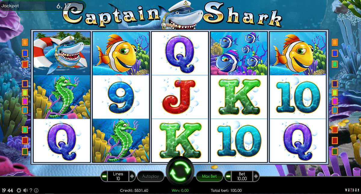 captain shark wazdan casino gokkasten