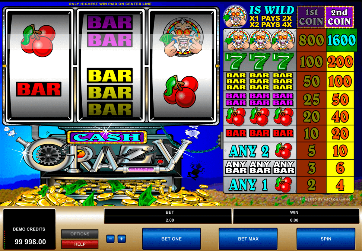 cash crazy microgaming casino gokkasten