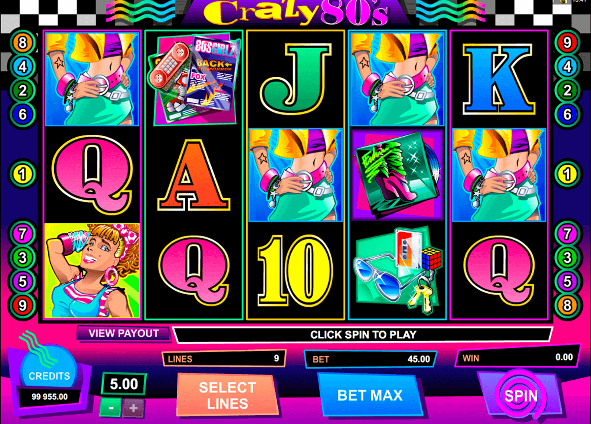 crazy80s microgaming casino gokkasten