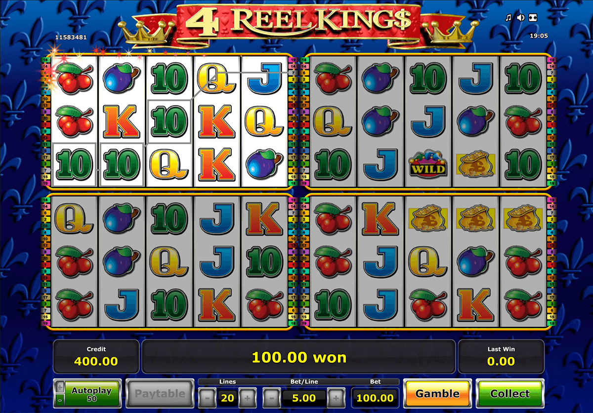 4 reel kings novomatic casino gokkasten