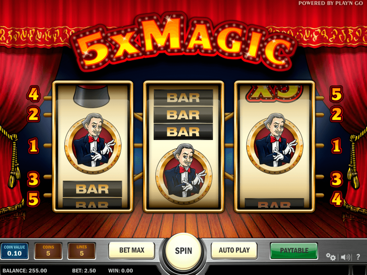 5x magic playn go casino gokkasten