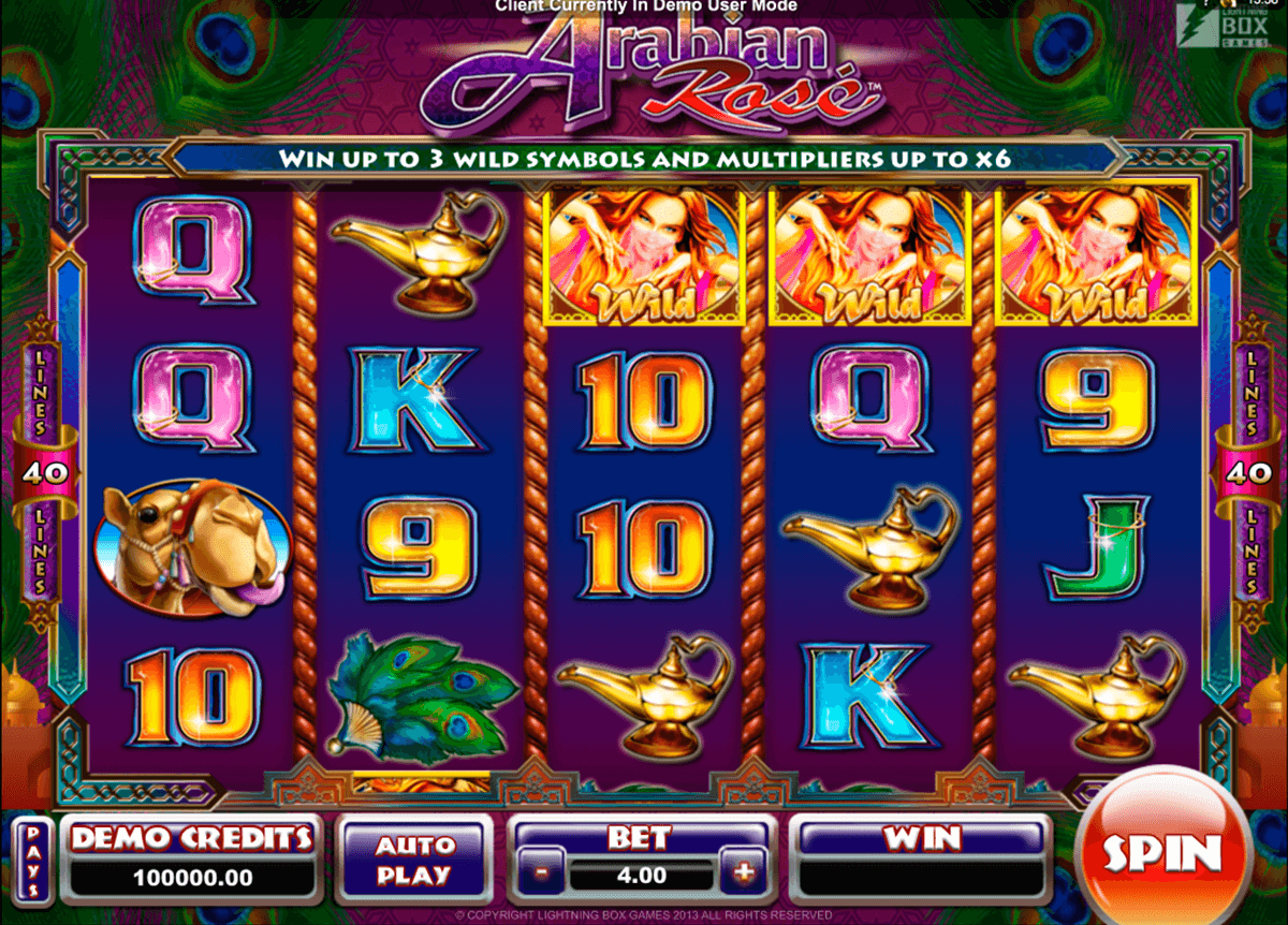 arabian rose microgaming casino gokkasten
