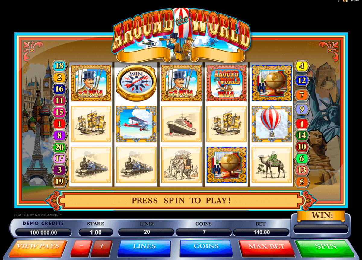 Around the World™ Slot spel spela gratis i Microgaming Online Casinon