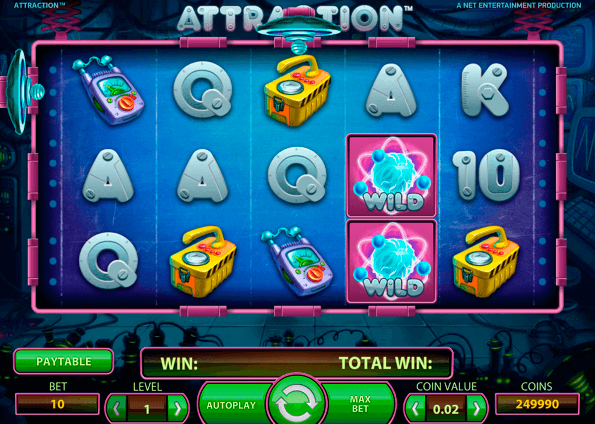 attraction netent casino gokkasten