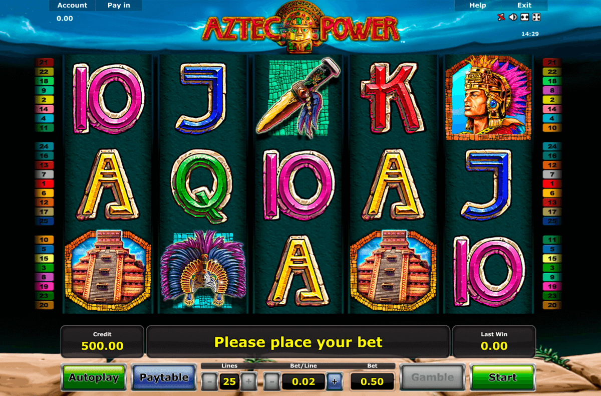 aztec power novomatic casino gokkasten