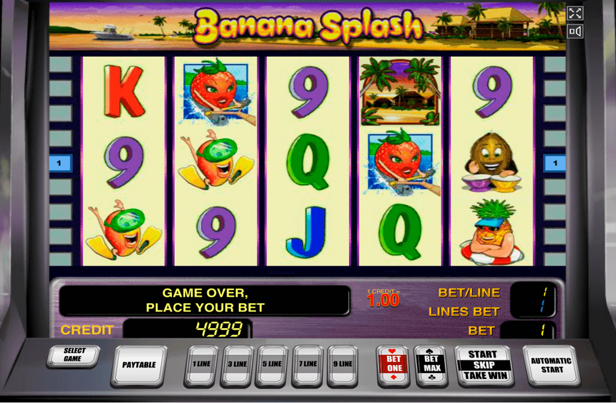 banana splash novomatic casino gokkasten