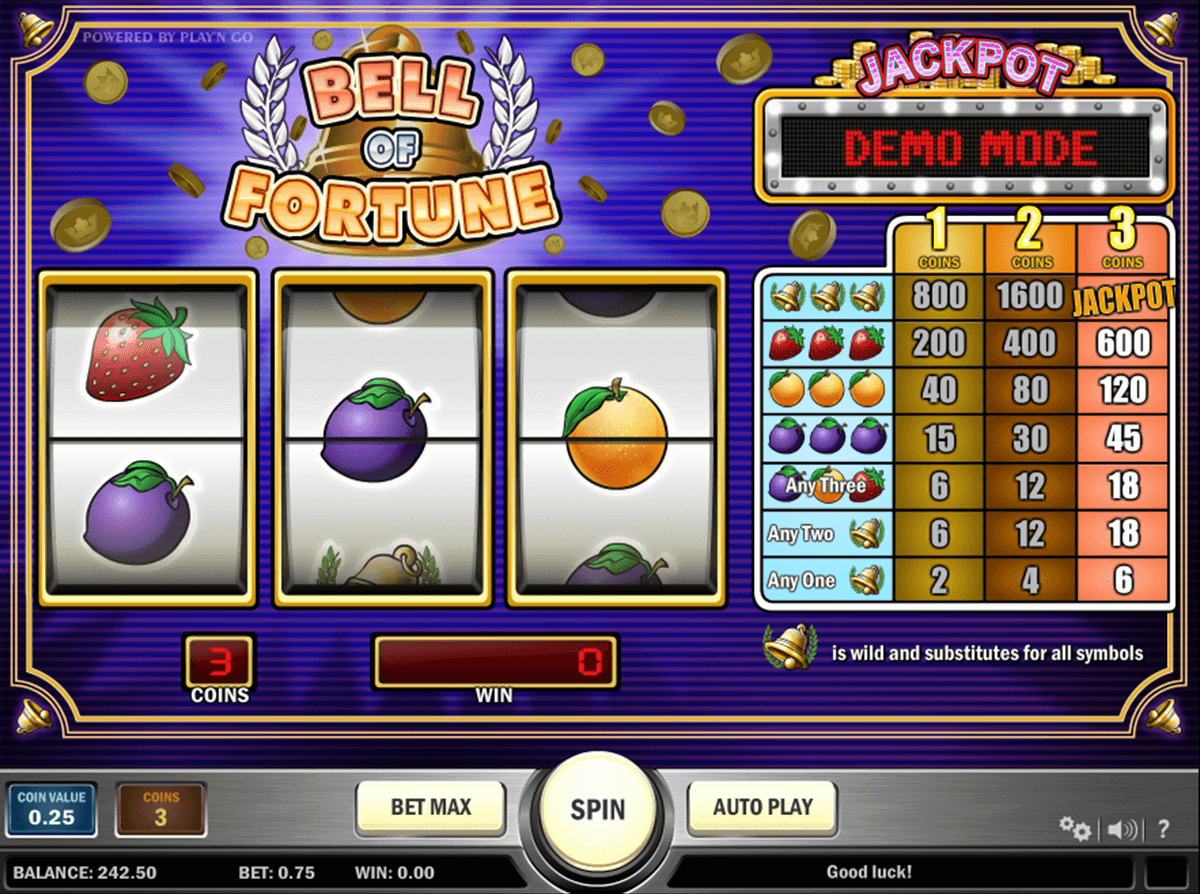 bell of fortune playn go casino gokkasten