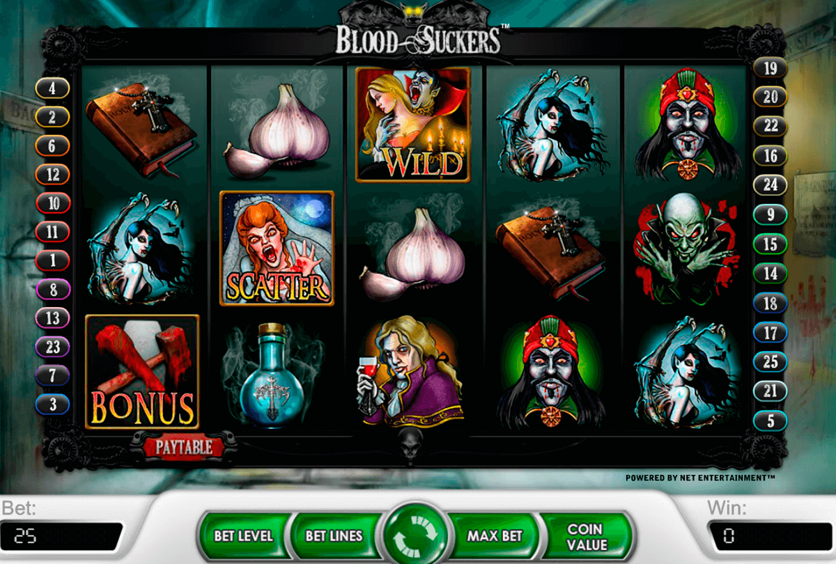 blood suckers netent casino gokkasten