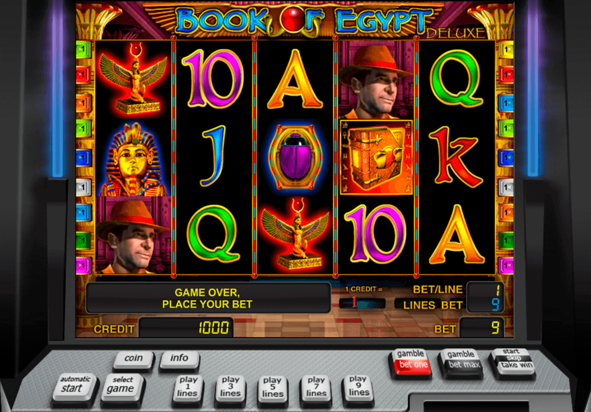 book of egypt deluxe novomatic casino gokkasten