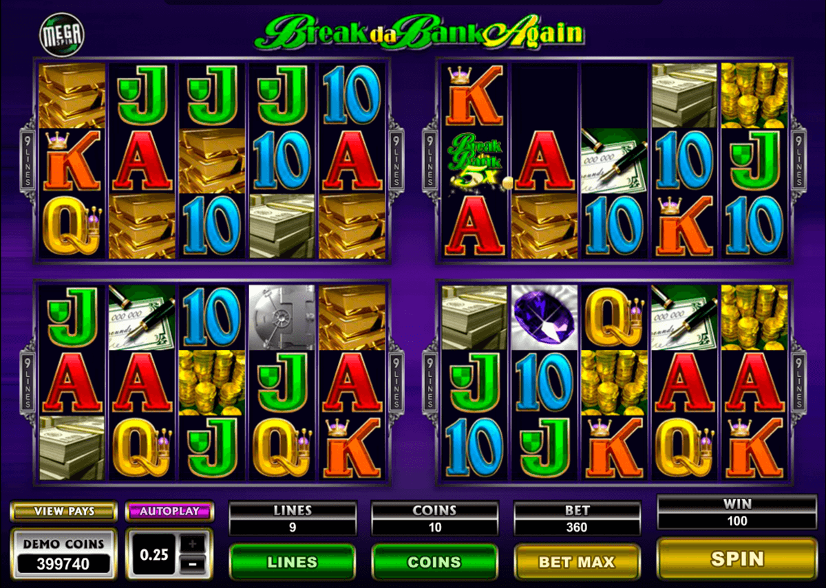 break da bank again megaspin microgaming casino gokkasten