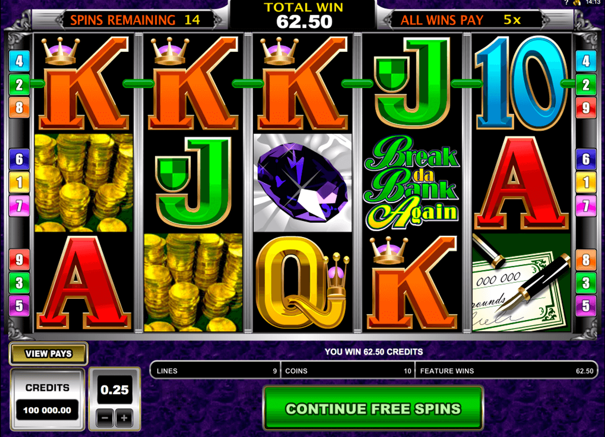 break da bank again microgaming casino gokkasten