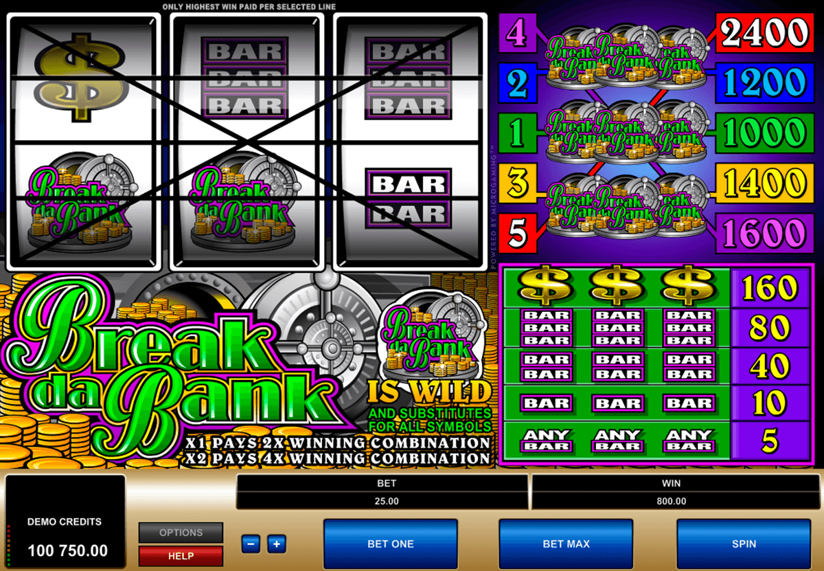 break da bank microgaming casino gokkasten