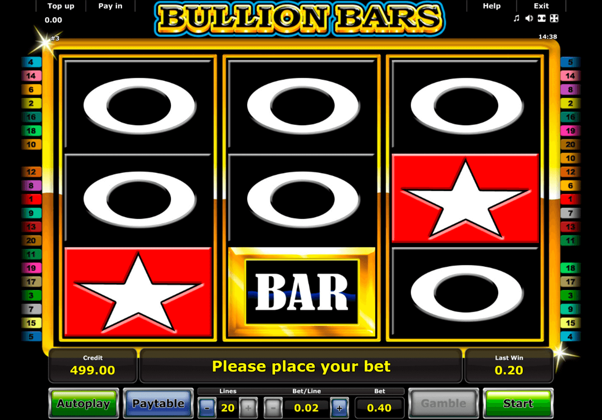 bullion bars novomatic casino gokkasten