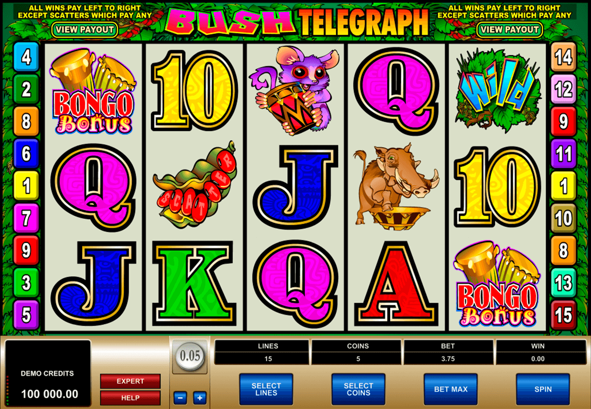 bush telegraph microgaming casino gokkasten