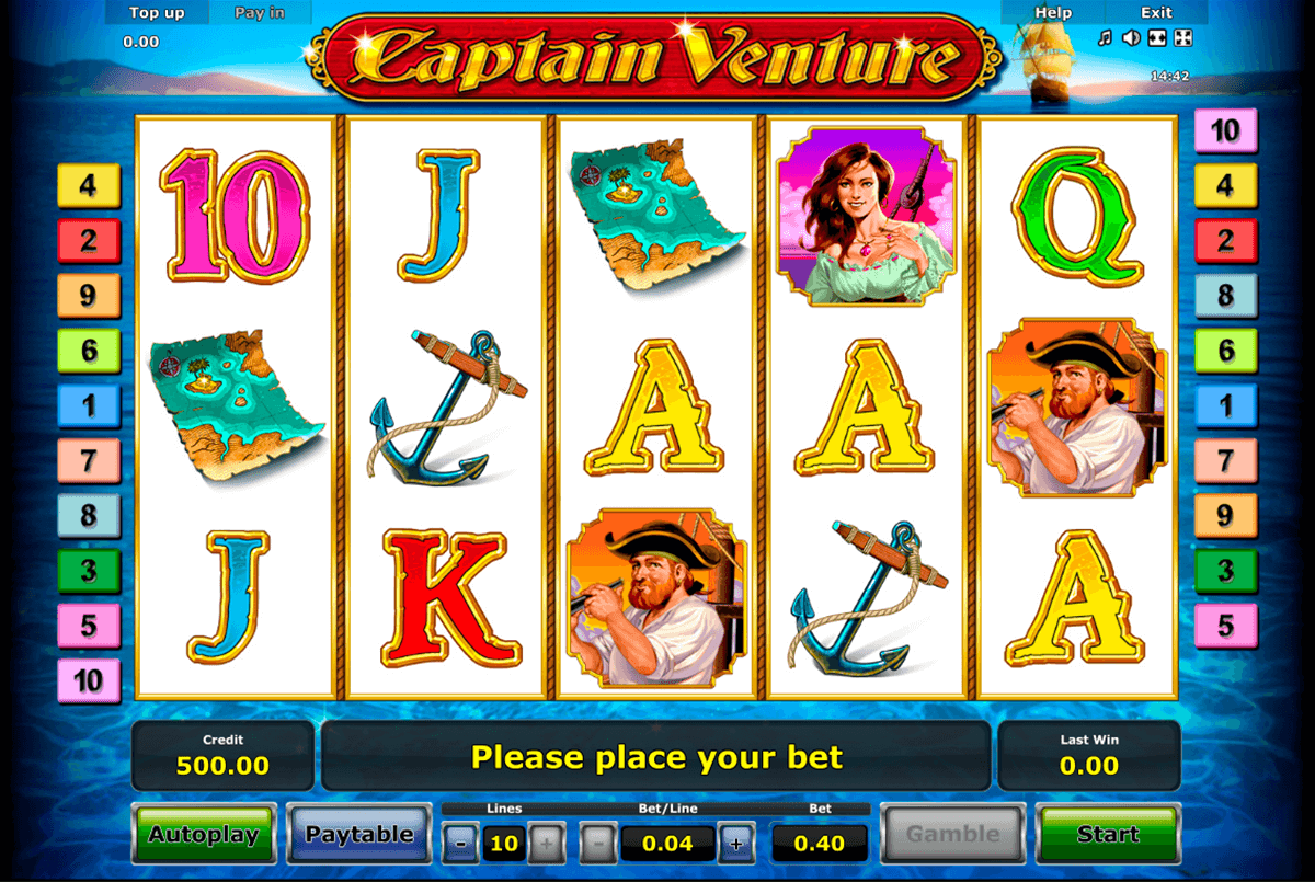 captain venture novomatic casino gokkasten