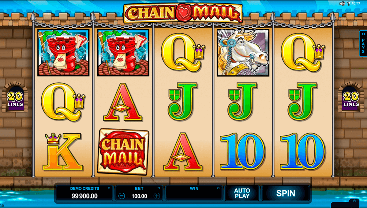 chain mail microgaming casino gokkasten