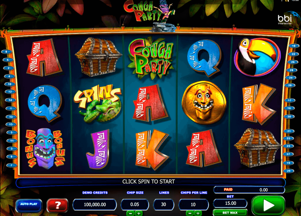 conga party microgaming casino gokkasten