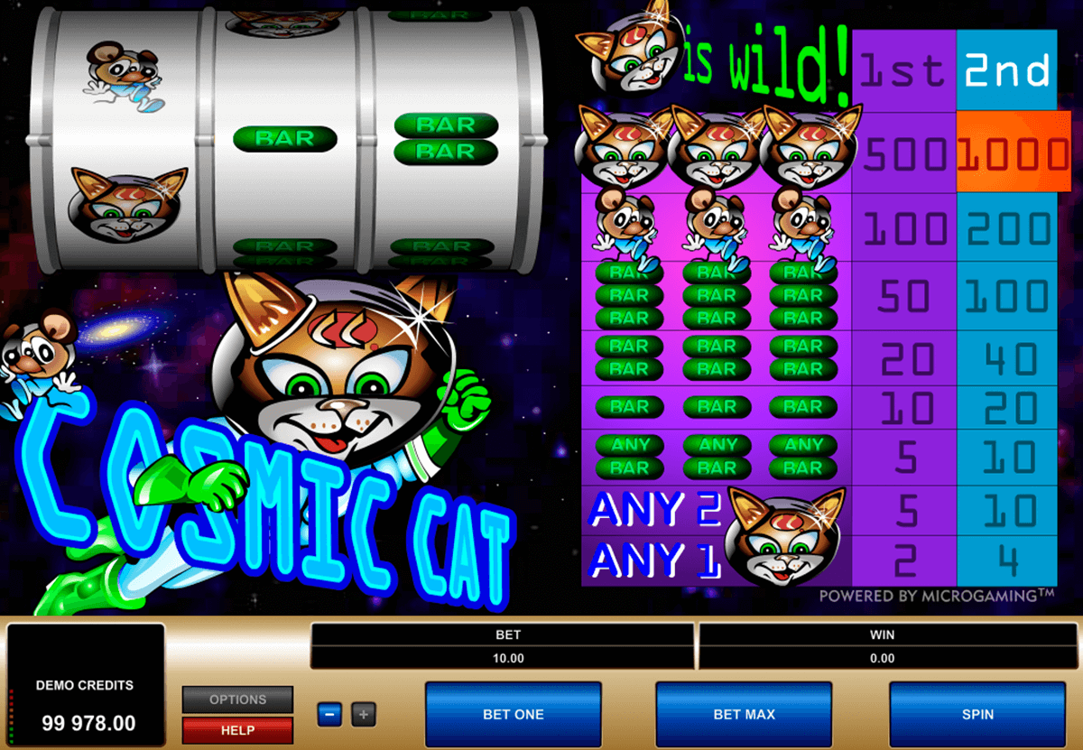 cosmic cat microgaming casino gokkasten