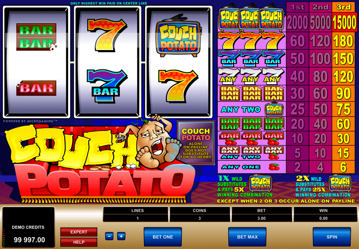 Couch Potato™ Slot spel spela gratis i Microgaming Online Casinon