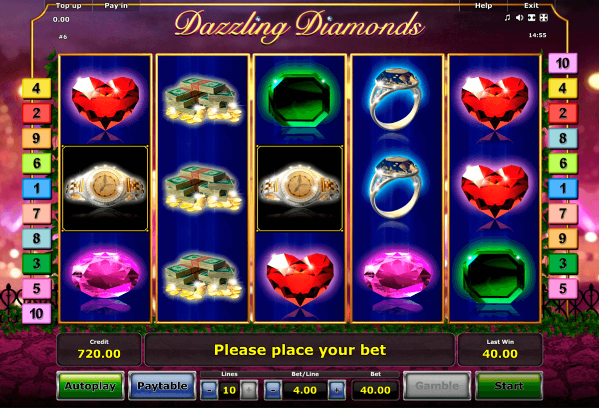 dazzling diamonds novomatic casino gokkasten