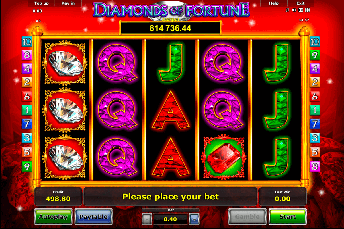diamonds of fortune novomatic casino gokkasten