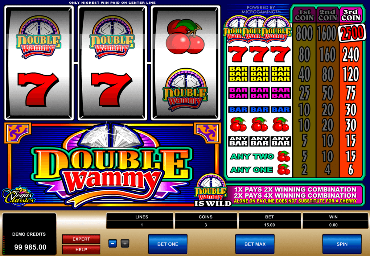 double wammy microgaming casino gokkasten