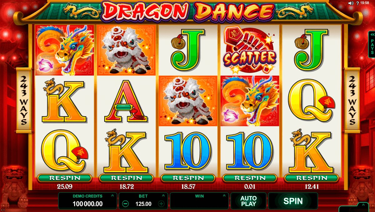 dragon dance microgaming casino gokkasten