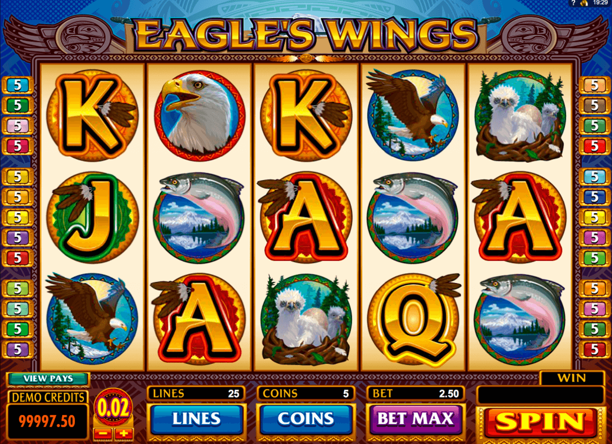 eagles wings microgaming casino gokkasten