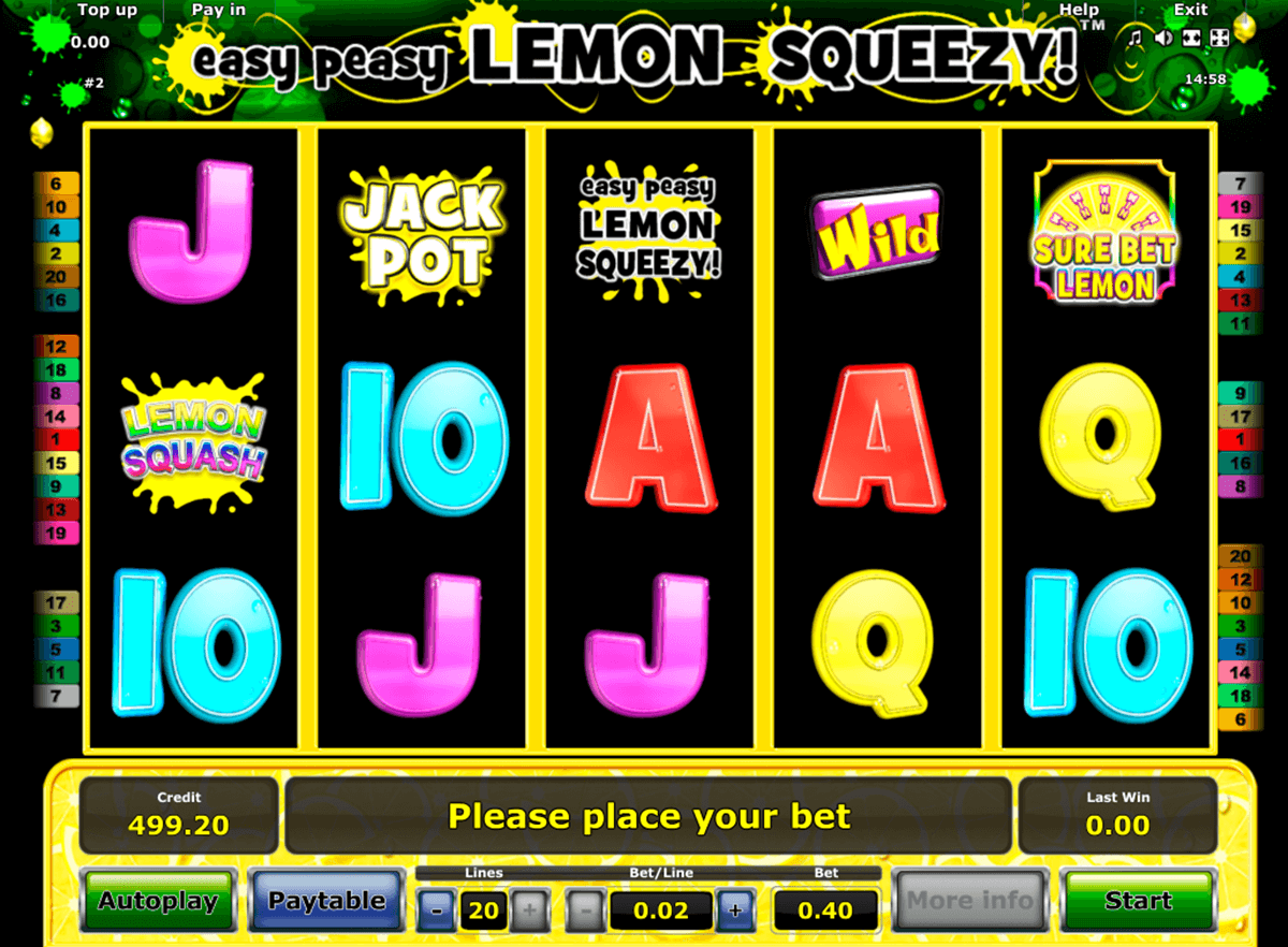 easy peasy lemon squeezy novomatic casino gokkasten