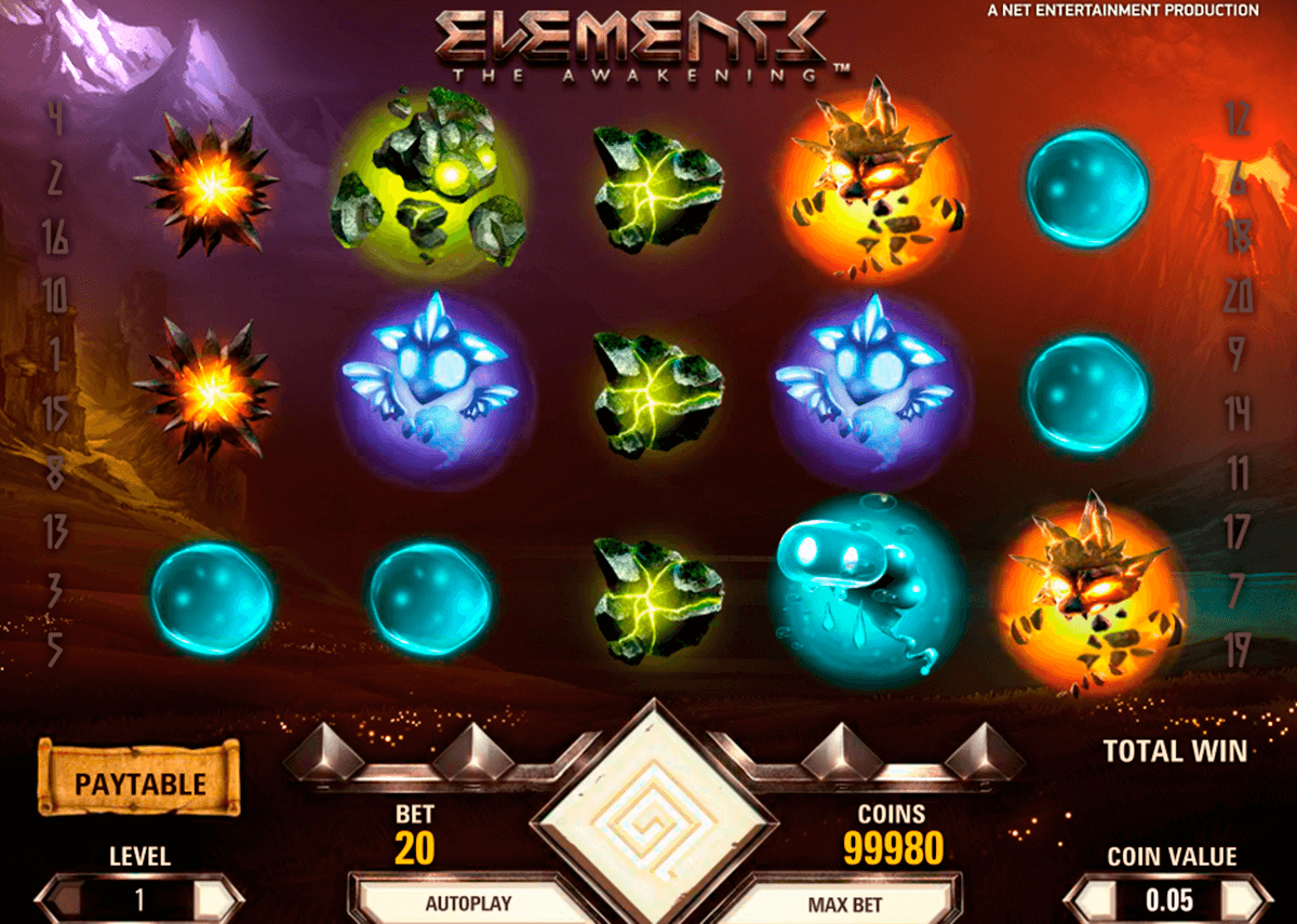 elements netent casino gokkasten