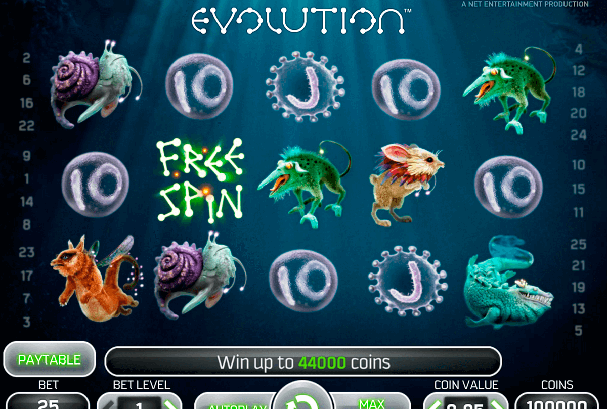 evolution netent casino gokkasten