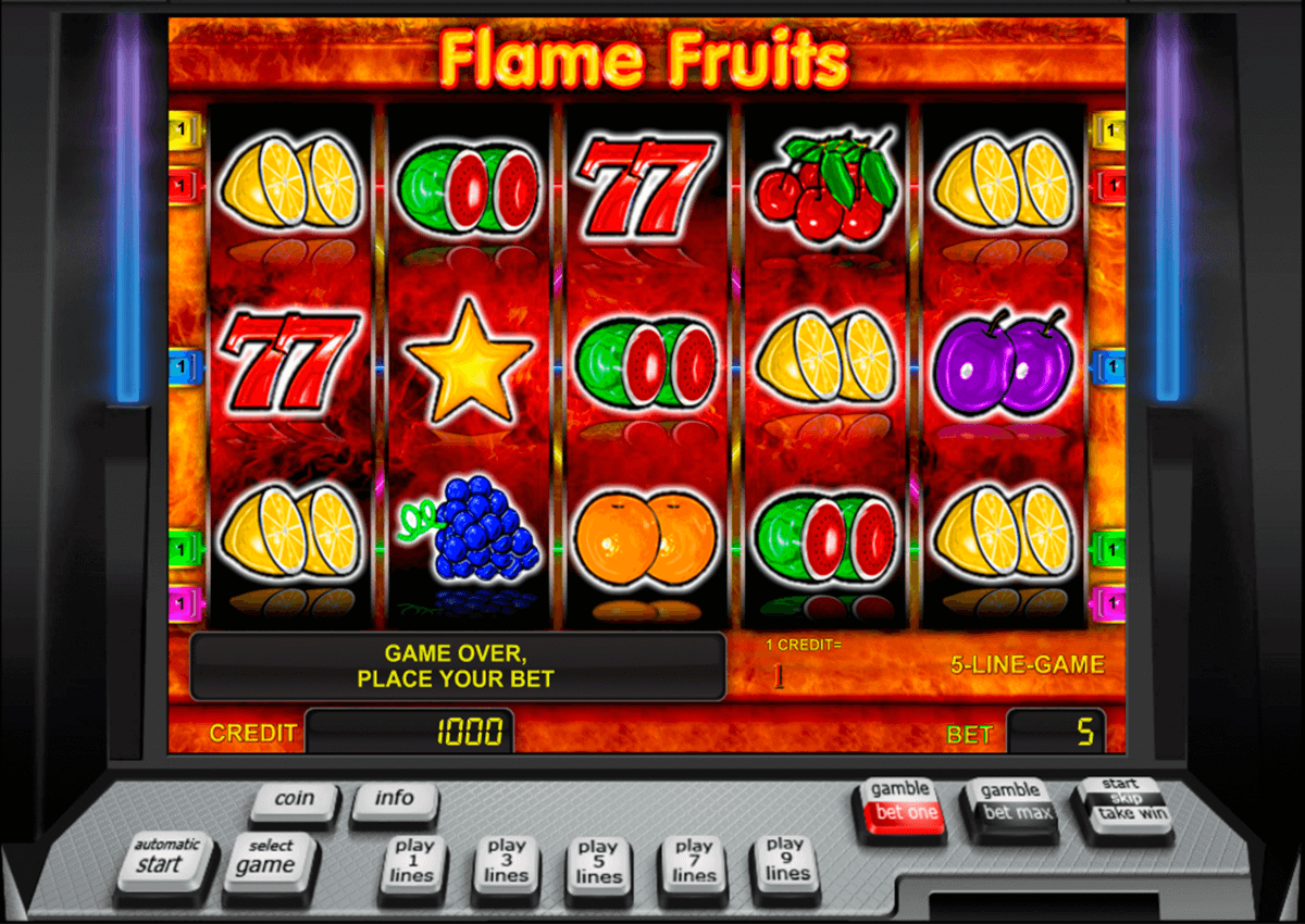 flame fruits novomatic casino gokkasten