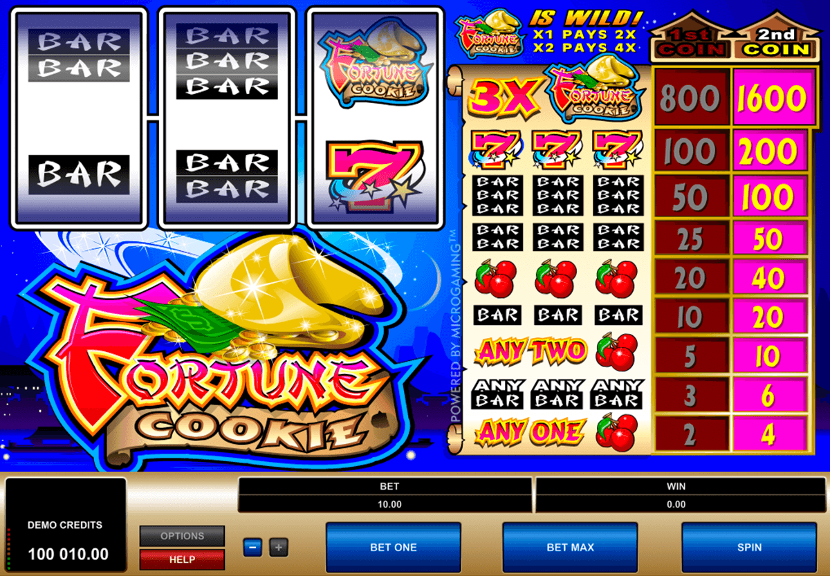 fortune cookie microgaming casino gokkasten