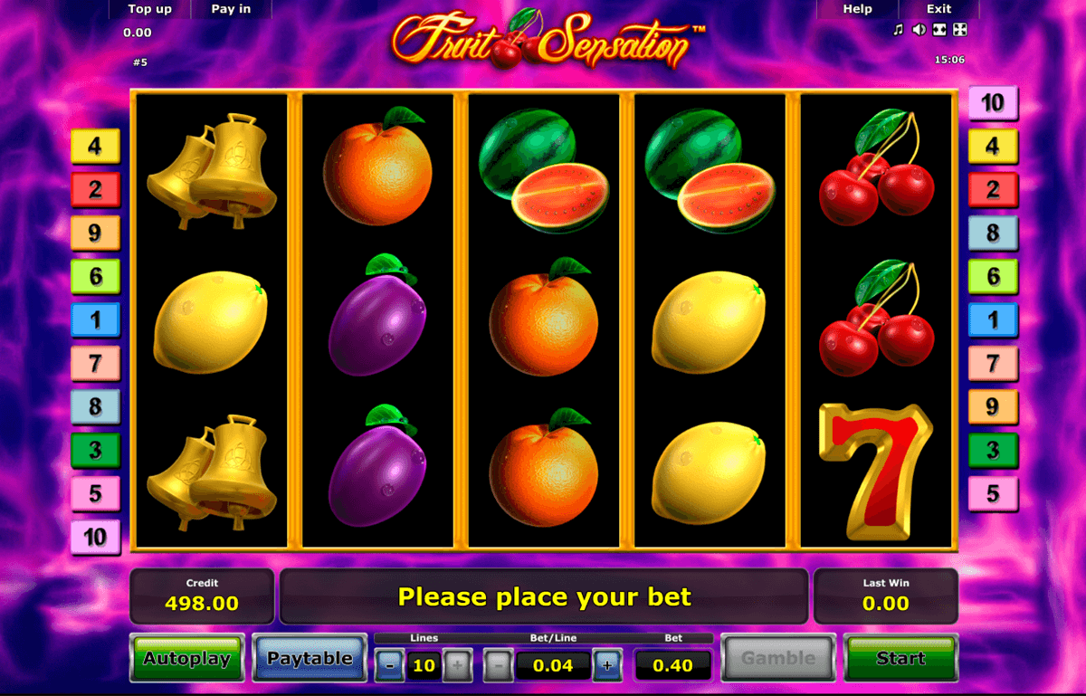 fruit sensation novomatic casino gokkasten