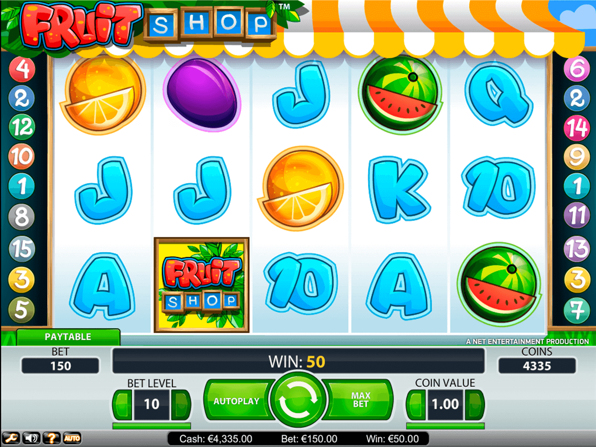 fruit shop netent casino gokkasten