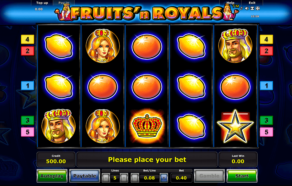 fruitsn royals novomatic casino gokkasten