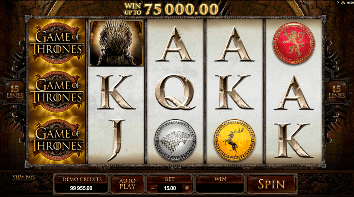 game of thrones 15 lines microgaming casino gokkasten