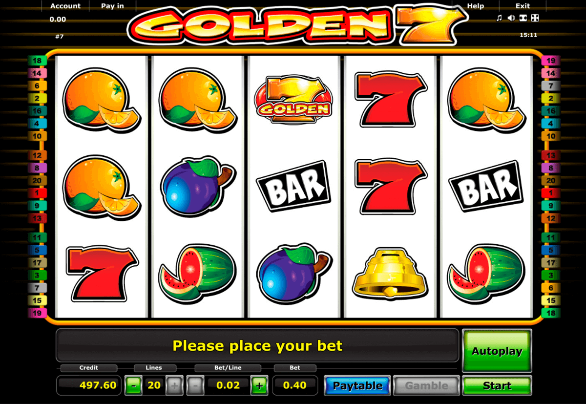 golden 7 novomatic casino gokkasten