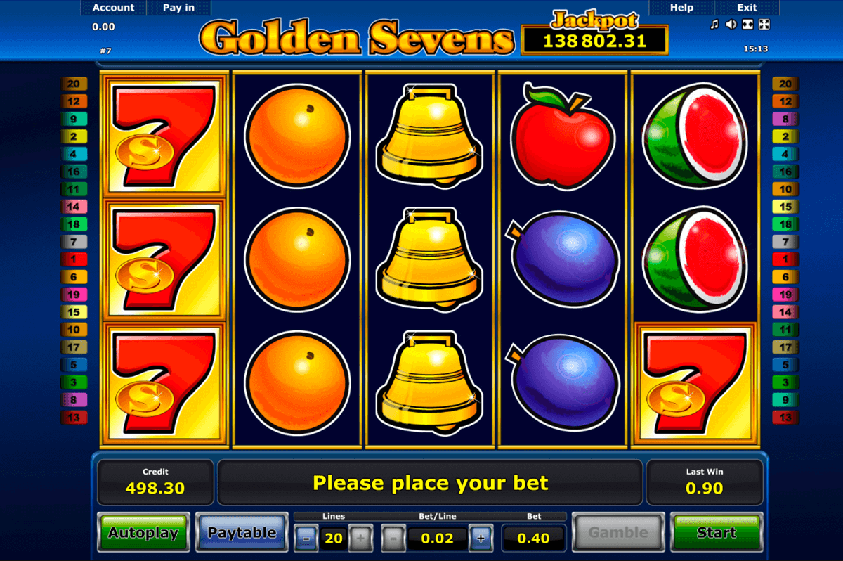 golden sevens novomatic casino gokkasten