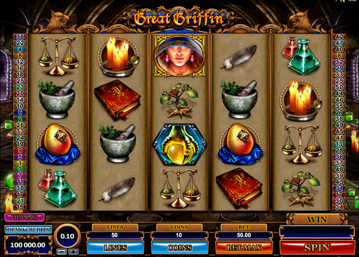 great griffin microgaming casino gokkasten