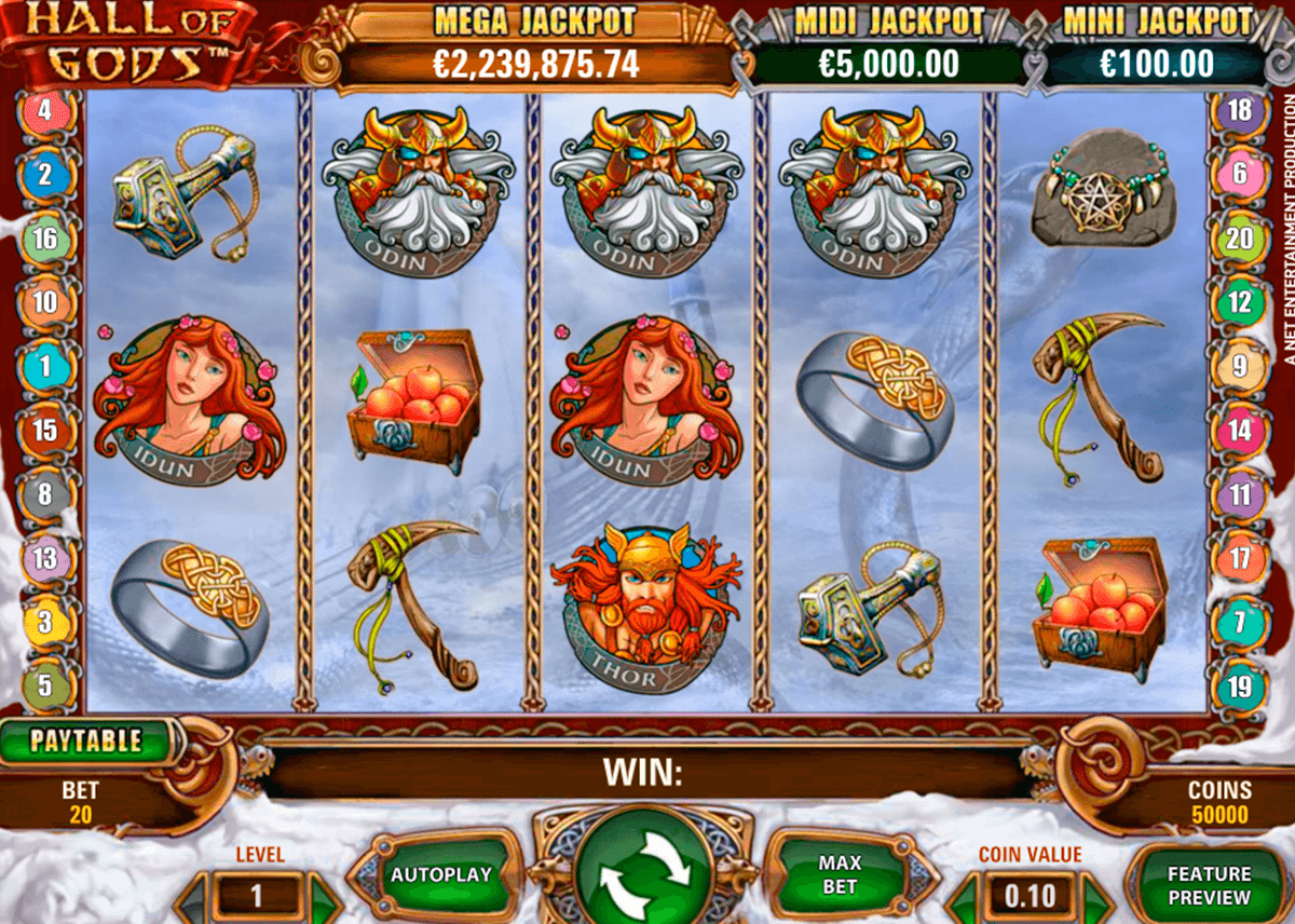 hall of gods netent casino gokkasten