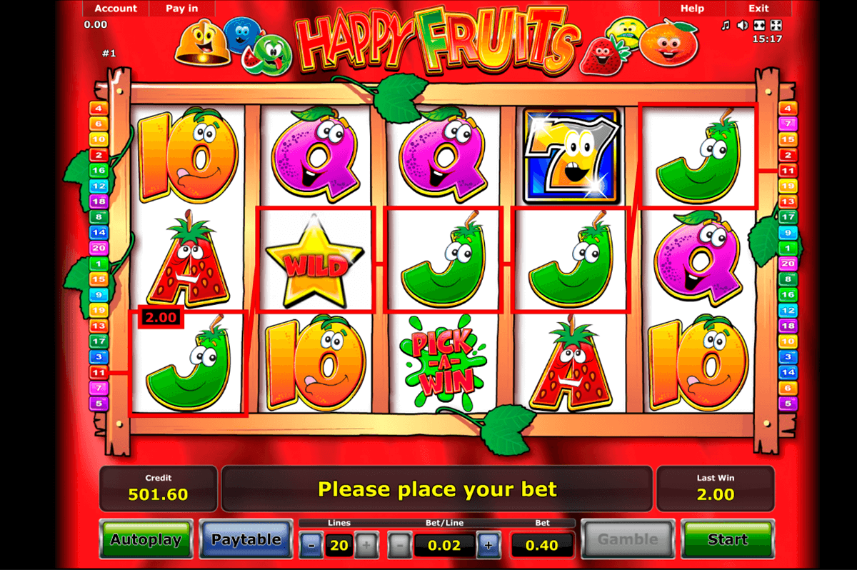 happy fruits novomatic casino gokkasten