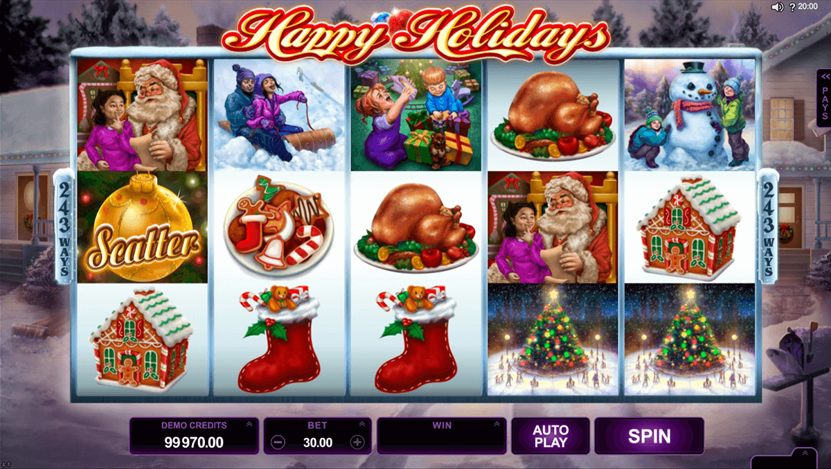 happy holidays microgaming casino gokkasten