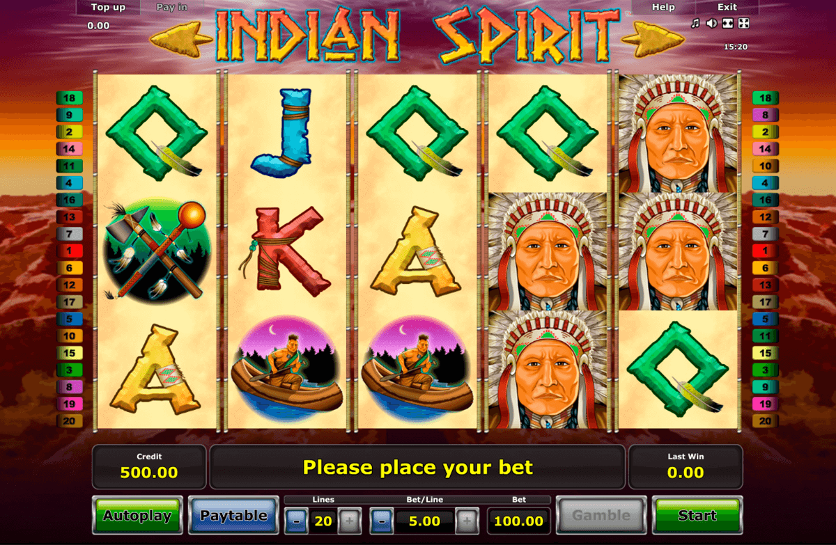 indian spirit novomatic casino gokkasten