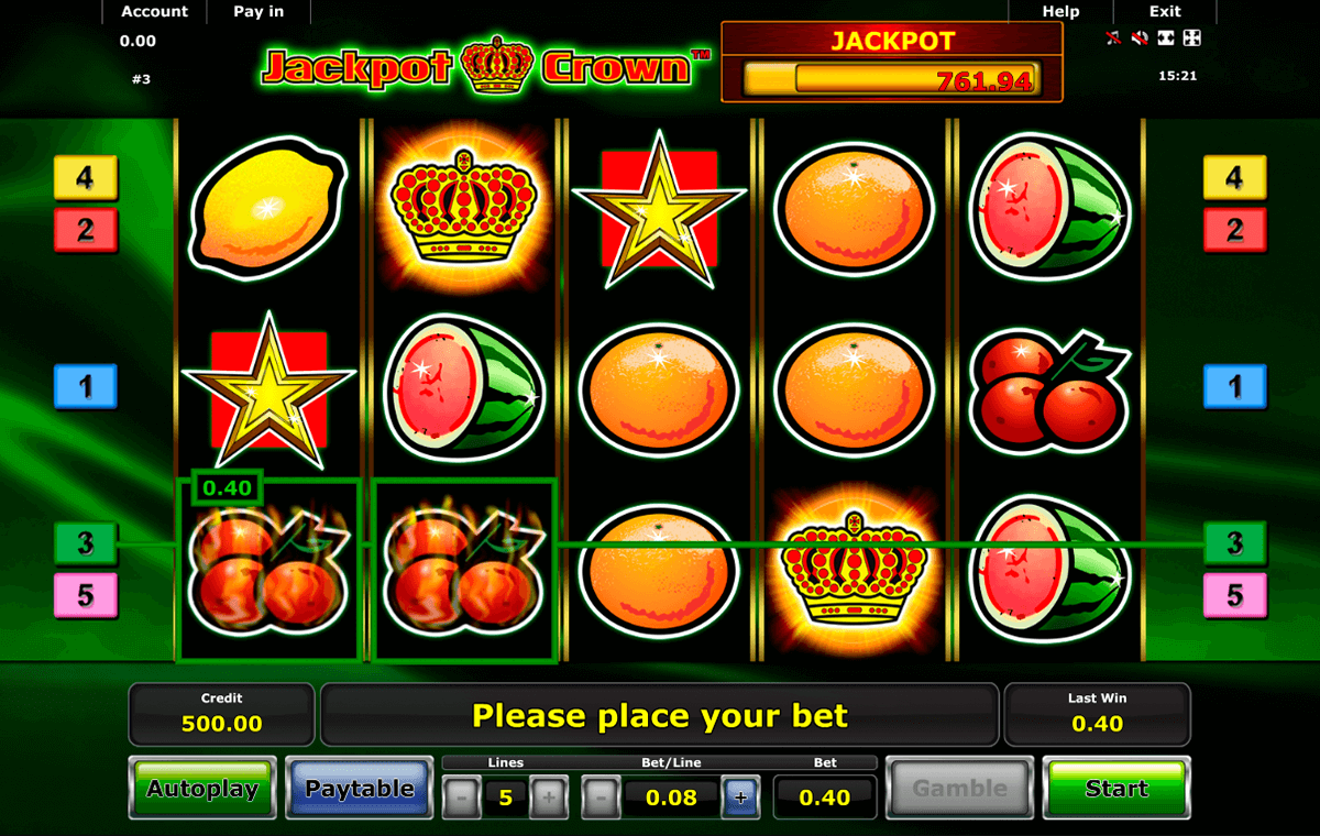 jackpot crown novomatic casino gokkasten