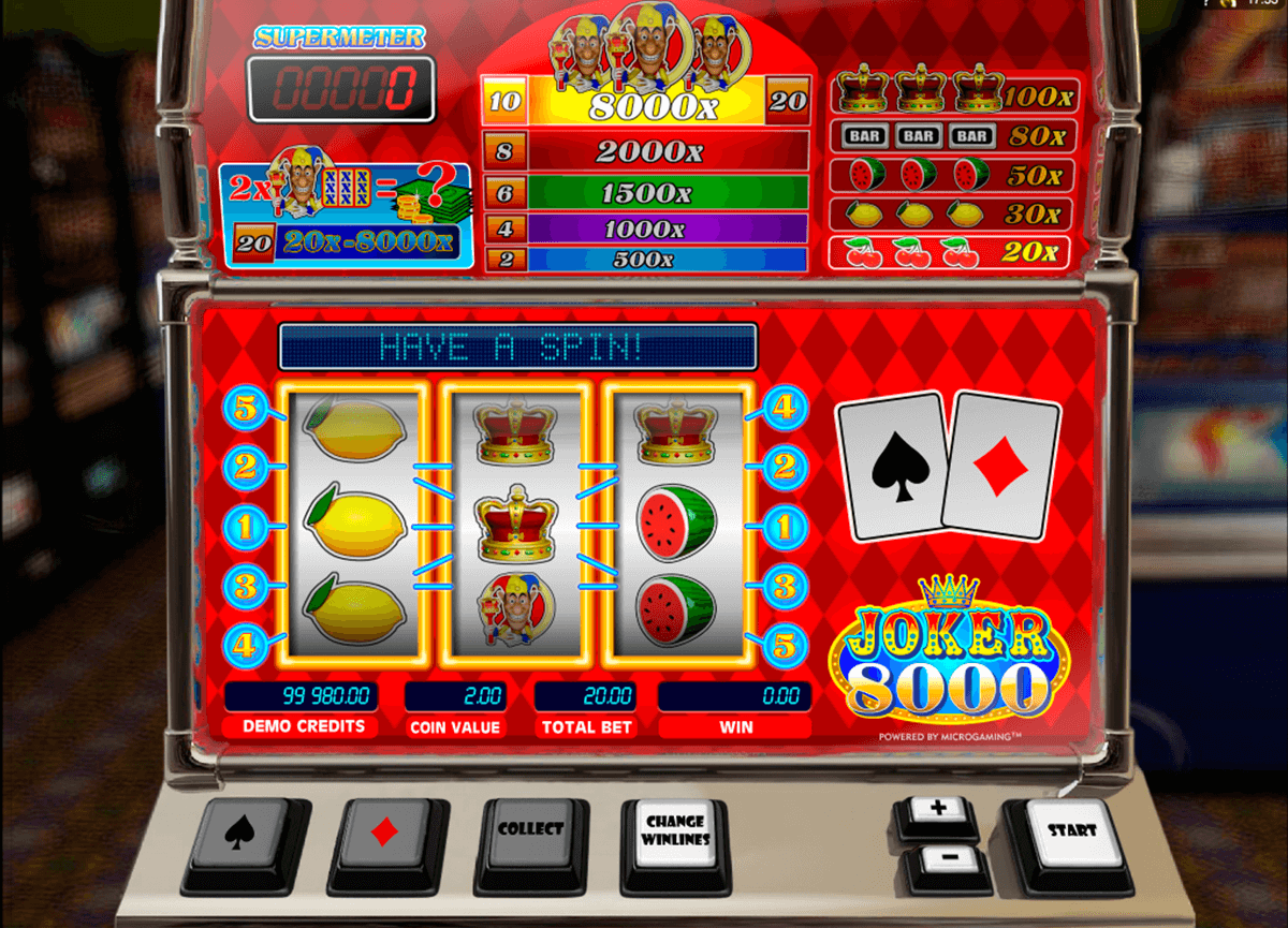 joker 8000 microgaming casino gokkasten