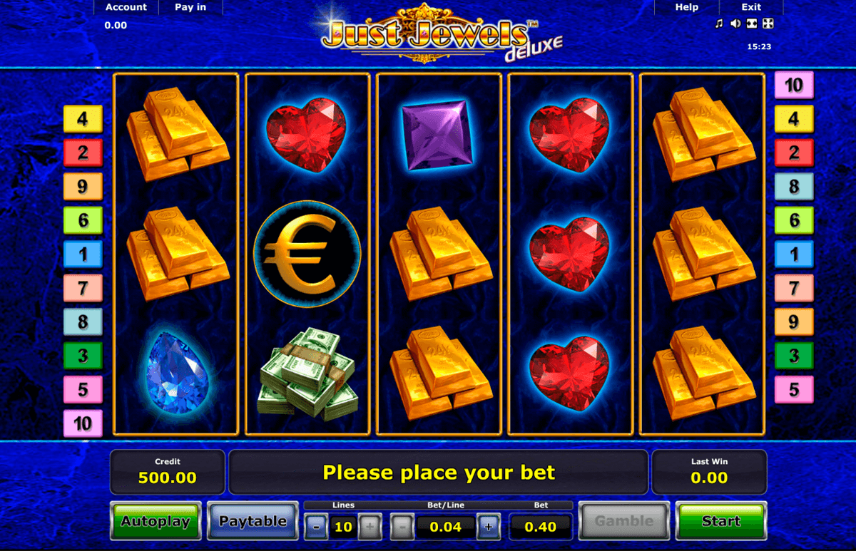 just jewels deluxe novomatic casino gokkasten