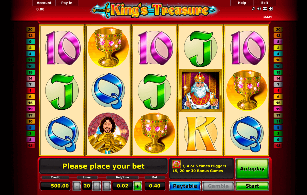 kings treasure novomatic casino gokkasten