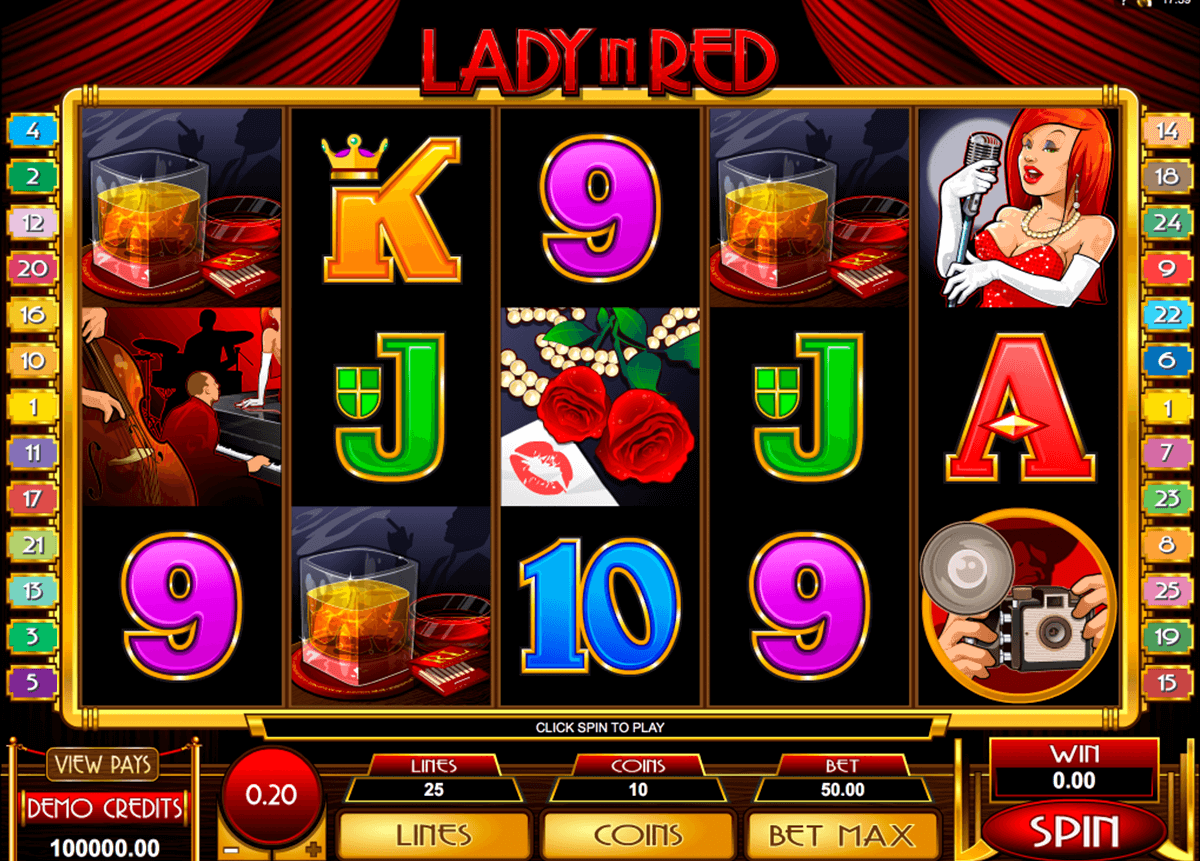 lady in red microgaming casino gokkasten